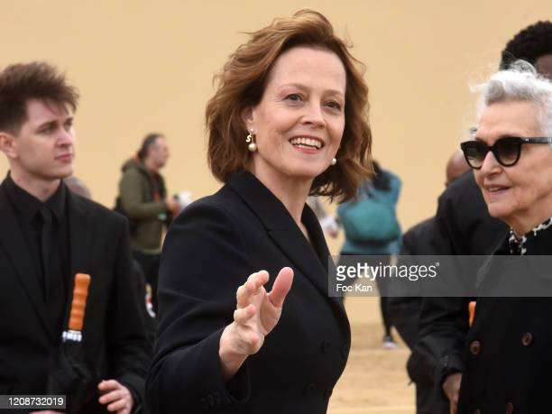 Sigourney Weaver attends the Dior show as part of the Paris Fashion Week Womenswear Fall/Winter 2020/2021 on February 25 2020 in Paris France