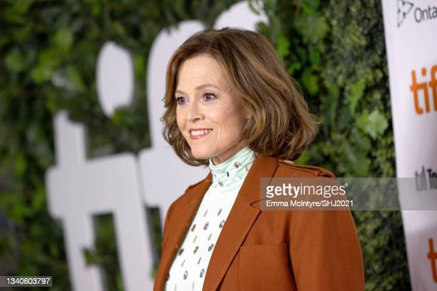 """Sigourney Weaver attends """"The Good House"""" Premiere during the 2021 Toronto International Film Festival at Roy Thomson Hall on September 15, 2021 in..."""