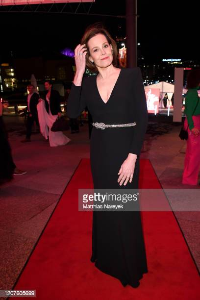 Sigourney Weaver attends the opening party during the 70th Berlinale International Film Festival Berlin at Kulturforum on February 20 2020 in Berlin...