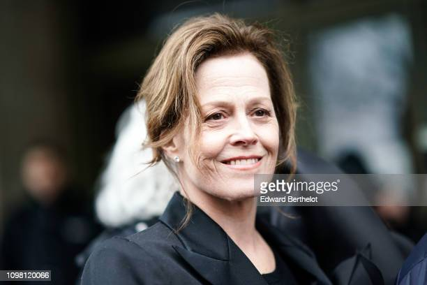 Sigourney Weaver attends the Stephane Rolland show, during Paris Fashion Week - Haute Couture Spring Summer 2020, on January 22, 2019 in Paris,...