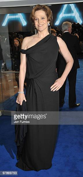 Sigourney Weaver attends the World Premiere of Avatar at Odeon Leicester Square on December 10 2009 in London England