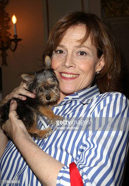 Sigourney Weaver backstage during Broadway Barks 15 in Shubert Alley on July 13 2013 in New York City