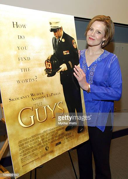 Sigourney Weaver during A Special Screening By The FDNY Fire Safety Education Fund And Focus Features Of The Guys at USS Intrepid SeaAirSpace Museum...