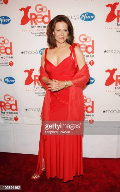 Sigourney Weaver during 'Go Red for Women' Event Arrivals at New York Public Library in New York City New York United States