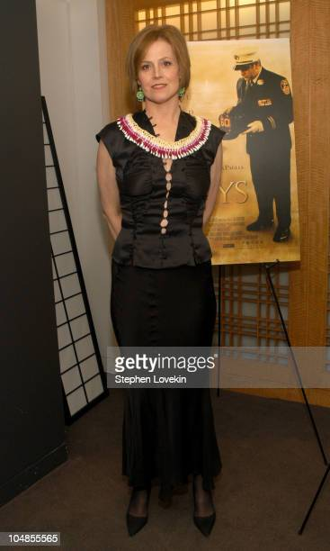 Sigourney Weaver during New Directors/New Films Premiere of 'The Guys' Green Room at Alice Tulley Hall in New York City New York United States