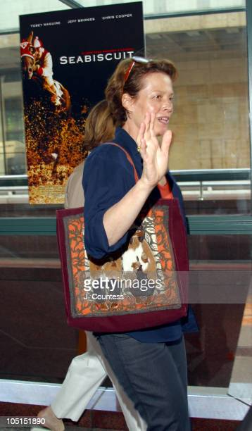 Sigourney Weaver during 'Seabiscuit' Special Screening New York City at Walter Reade Theatre at Lincoln Center in New York City New York United States