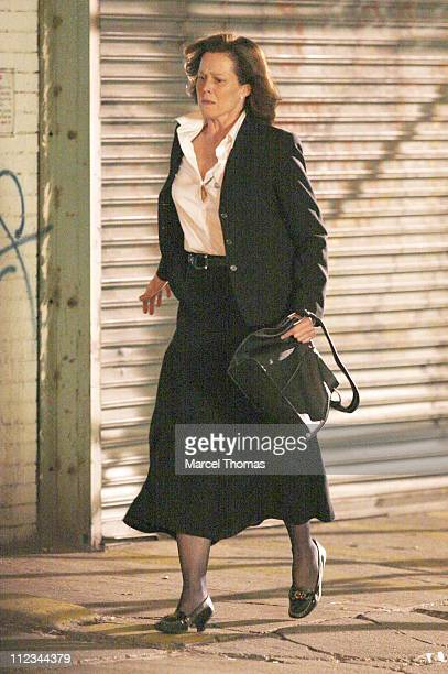 Sigourney Weaver during Sigourney Weaver and Keri Russell on Location for 'Girl in the Park' in New York City November 27 2006 at Meat Packing...