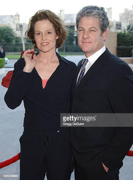 Sigourney Weaver & Husband Jim Simpson during The 9th Annual BAFTA/LA Tea Party at Park Hyatt Hotel in Los Angeles, California, United States.