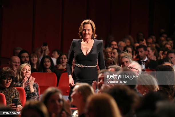 "Sigourney Weaver is seen during the opening ceremony and ""My Salinger Year"" premiere during the 70th Berlinale International Film Festival Berlin at..."