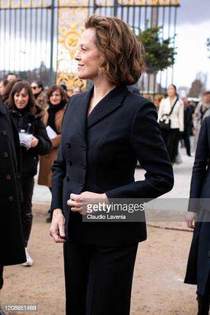 Sigourney Weaver is seen outside Dior fashion show on February 25 2020 in Paris France