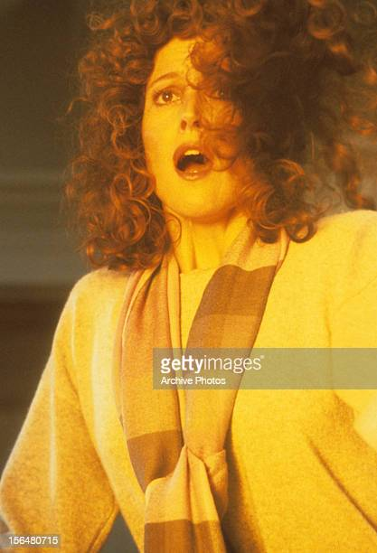 Sigourney Weaver looks in shock in a scene from the film 'Ghostbusters' 1984