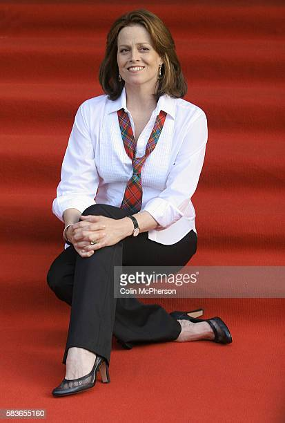 Sigourney Weaver pictured at the Dominion Cinema in Edinburgh for the premiere of her latest film Snow Cake directed by Marc Evans and costarring...