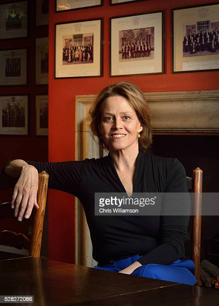 Sigourney Weaver poses for portrait before addressing The Cambridge Union on May 4 2016 in Cambridge Cambridgeshire