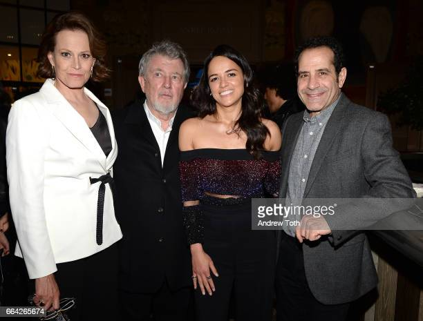 Sigourney Weaver Walter Hill Michelle Rodriguez and Tony Shalhoub attend 'The Assignment' New York screening after party at the Whitby Hotel on April...