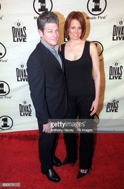 Sigourney Weaver with her husband Jim Simpson at the 2001 VH1 Divas Live show which this year was a tribute to Aretha Franklin held at Radio City...