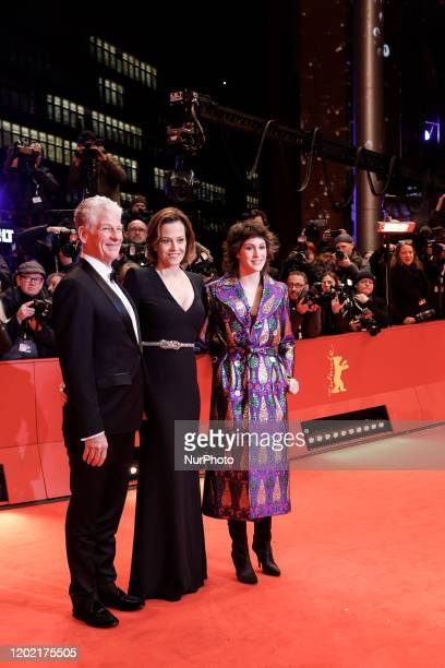 Sigourney Weaver with husband Jim Simpson and daughter Charlotte Simpson attend Opening Ceremony and quotMy  Salinger Yearquot premiere during 70th...