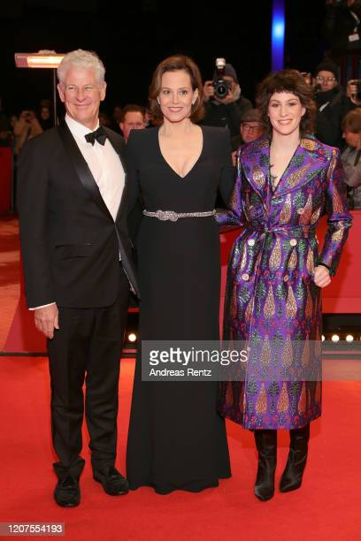 Sigourney Weaver with husband Jim Simpson and daughter Charlotte Simpson arrive for the opening ceremony and My Salinger Year premiere during the...