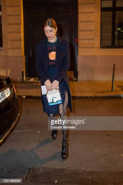 Sigrid Bouaziz arrives at Sidaction Gala Dinner 2020 At Pavillon Cambon on January 23 2020 in Paris France