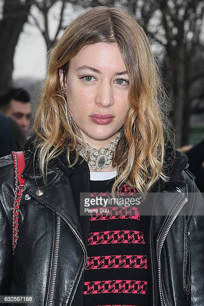 Sigrid Bouaziz arrives at the Chanel Haute Couture Spring Summer 2017 show as part of Paris Fashion Week on January 24 2017 in Paris France