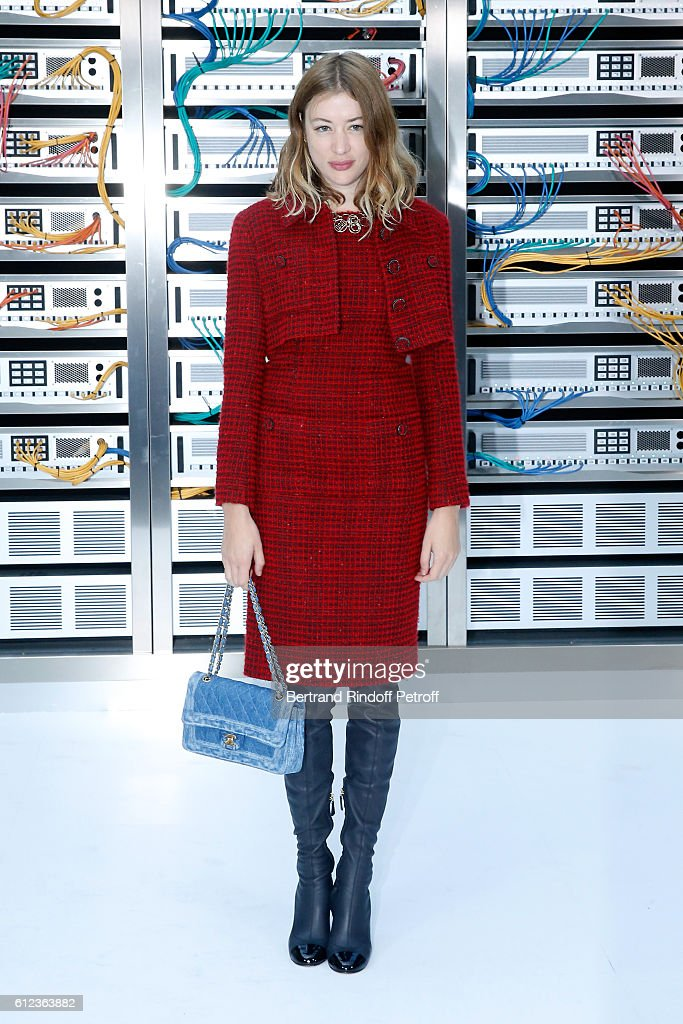 Sigrid Bouaziz attends the Chanel show as part of the Paris Fashion Week Womenswear Spring/Summer 2017 on October 4, 2016 in Paris, France.