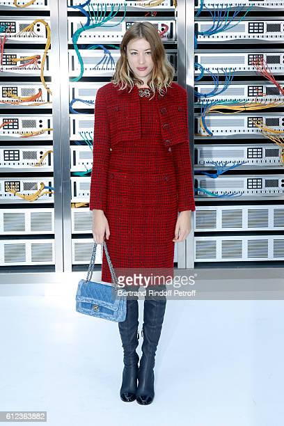 Sigrid Bouaziz attends the Chanel show as part of the Paris Fashion Week Womenswear Spring/Summer 2017 on October 4 2016 in Paris France