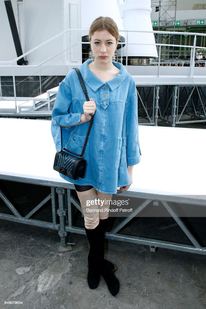 Sigrid Bouaziz attends the Chanel show as part of the Paris Fashion Week Womenswear Fall/Winter 2017/2018 on March 7, 2017 in Paris, France.