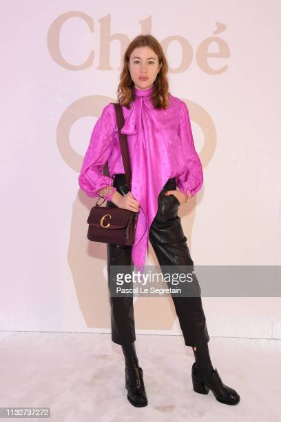 Sigrid Bouaziz attends the Chloe show as part of the Paris Fashion Week Womenswear Fall/Winter 2019/2020 on February 28 2019 in Paris France