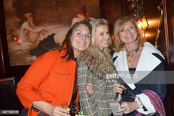Sigrid de Montrond Laura Restelli Brizard and Brigitte Mancel attend the 'Marcel Rochas Audace et Elegance' Sophie Rochas Book Signing Cocktail at...