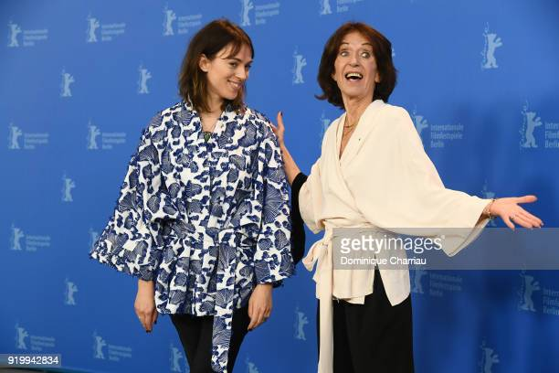 Sigrid Helleday and Leonore Ekstrand pose at the 'The Real Estate' photo call during the 68th Berlinale International Film Festival Berlin at Grand...