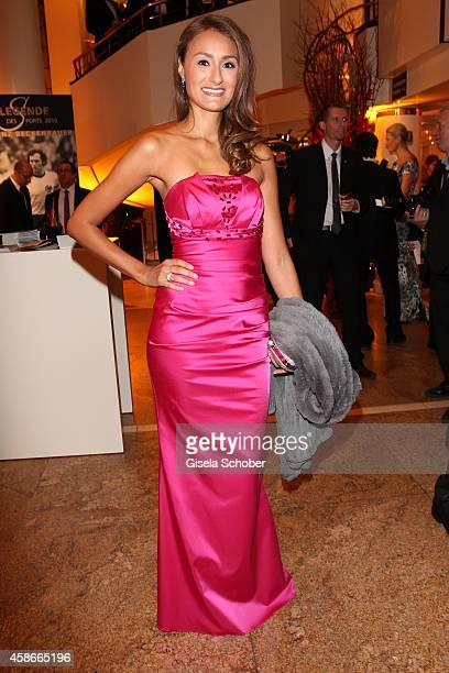 Sigrid Moeller wearing a dress of Conny Singh during the 33 Deutscher Sportpresseball German Sports Media Ball 2014 at Alte Oper on November 08 2014...