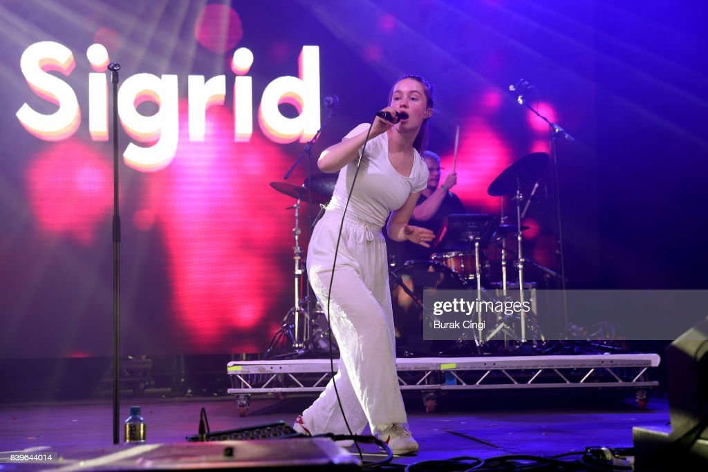 Sigrid performs on day two of Reading Festival at Richfield Avenue on August 26, 2017 in Reading, England.