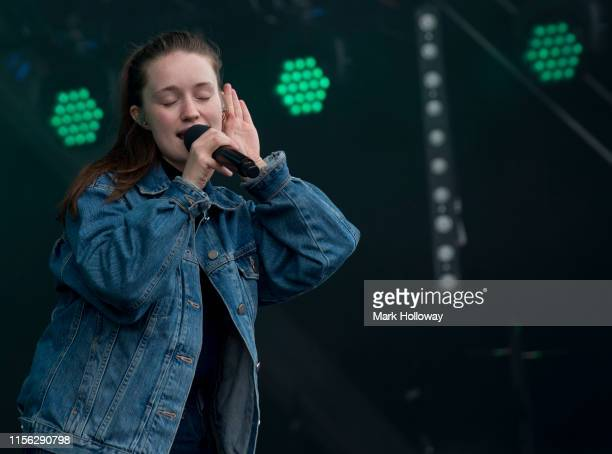 Sigrid performs on stage during Isle of Wight Festival 2019 at Seaclose Park on June 16 2019 in Newport Isle of Wight