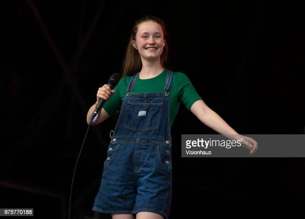 Sigrid performs on the Parklife stage on day two of the Parklife Festival at Heaton Park on June 10 2018 in Manchester England