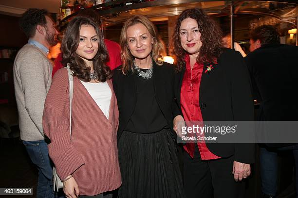 Sigrid Streletzki and her daughter Kira Streletzki L Monika Griefahn during 'The Circle' After Show Cocktail 65th Berlinale International Film...