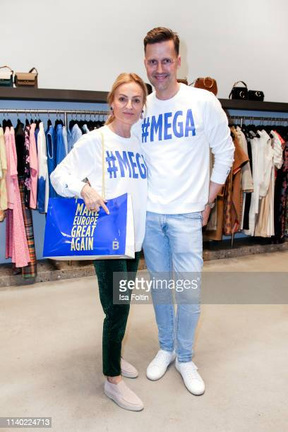 Sigrid Streletzki and Marco Stein attend the Kickoff Europa #MEGA event hosted by Place to B at The Corner on April 29 2019 in Berlin Germany