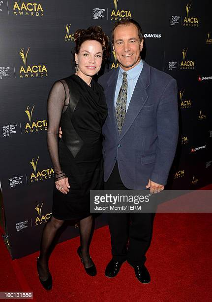 Sigrid Thornton and Andrew Warne attend the Australian Academy of Cinema and Television Arts' 2nd AACTA International Awards at Soho House on January...