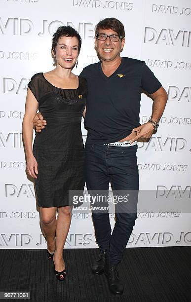 Sigrid Thornton and Peter Alexander arrive at the David Jones Autumn/Winter 2010 Season Launch at Central Pier Docklands on February 17 2010 in...
