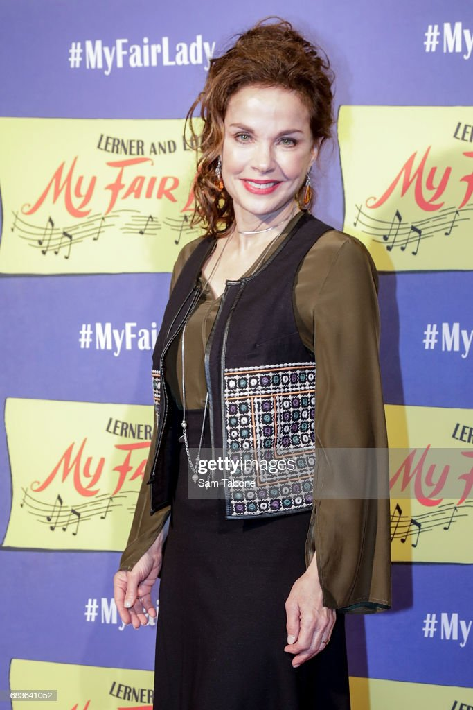 Sigrid Thornton arrives ahead of opening night of My Fair Lady at Regent Theatre on May 16, 2017 in Melbourne, Australia.