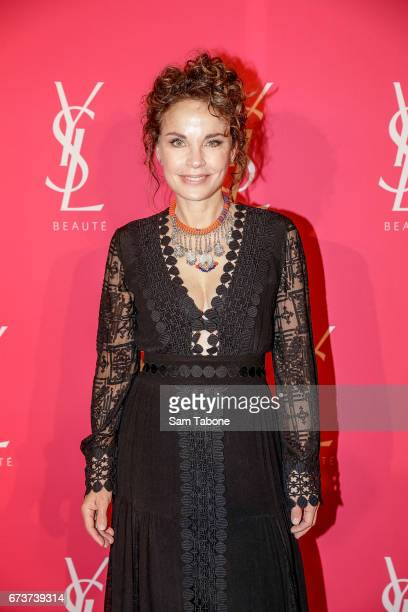 Sigrid Thornton arrives at Meat Market as YSL Beauty Club Takes Over Melbourne on April 27 2017 in Melbourne Australia