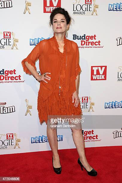 Sigrid Thornton arrives at the 57th Annual Logie Awards at Crown Palladium on May 3 2015 in Melbourne Australia