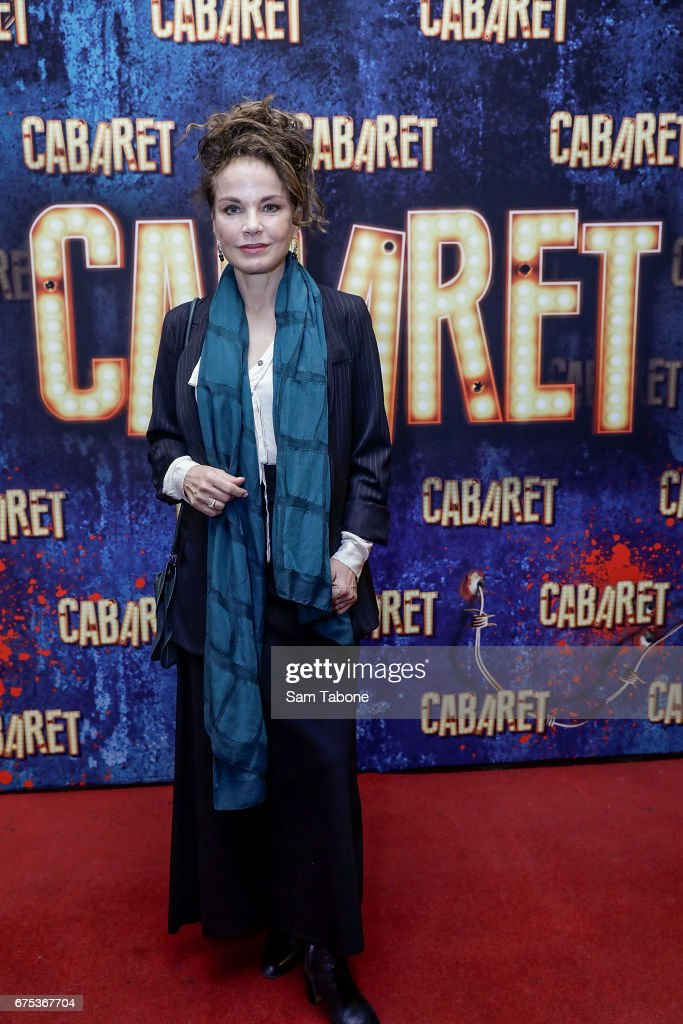 Sigrid Thornton arrives at the opening night of'Cabaret' at The Athenatheum Theatre on May 1, 2017 in Melbourne, Australia.
