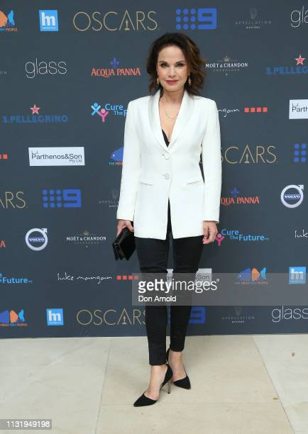 Sigrid Thornton arrives for the Academy Awards Charity Event at glass brasserie on February 25 2019 in Sydney Australia