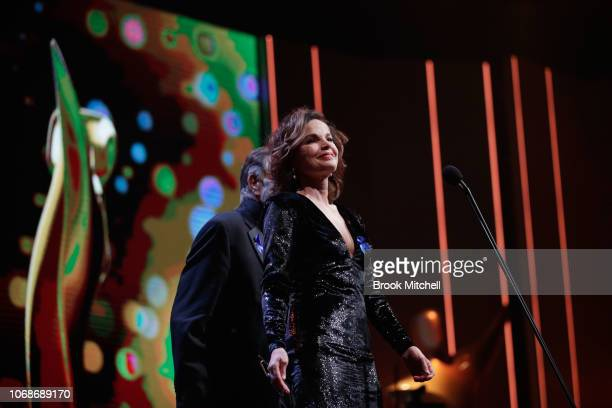 Sigrid Thornton presents during the 2018 AACTA Awards Presented by Foxtel at The Star on December 5 2018 in Sydney Australia
