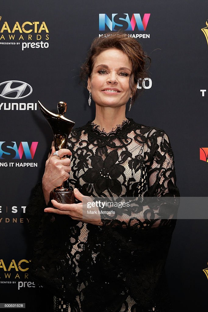 Sigrid Thornton wins AACTA Award for Best Guest or Supporting Actress in a Television Drama during the 5th AACTA Awards Presented by Presto at The Star on December 9, 2015 in Sydney, Australia.