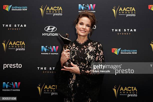 Sigrid Thornton wins AACTA Award for Best Guest or Supporting Actress in a Television Drama during the 5th AACTA Awards Presented by Presto at The...