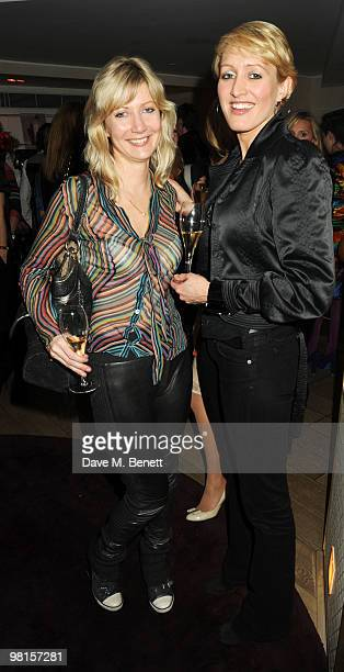 Sigrid Wilkinson and Isabella Macpherson attend Marie Claire's Inspire Mentor Campaign party at The Loft at the Ivy Club on March 30 2010 in London...