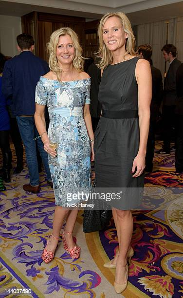 Sigrid Wilkinson and Tia Graham attend private view of the Corinthia Artist in Residence exhibition 'Harbour' at Corinthia Hotel London on May 8 2012...