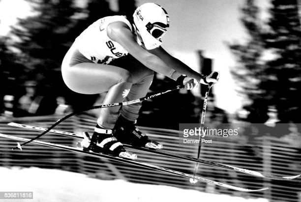 Sigrid Wolf of Austria winner of back to back downhills at Vail Credit The Denver Post
