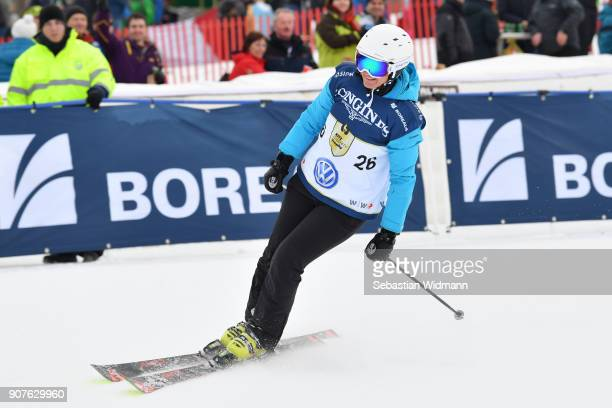 Sigrid Wolf takes part in the KitzCharityTrophy on January 20, 2018 in Kitzbuehel, Austria.