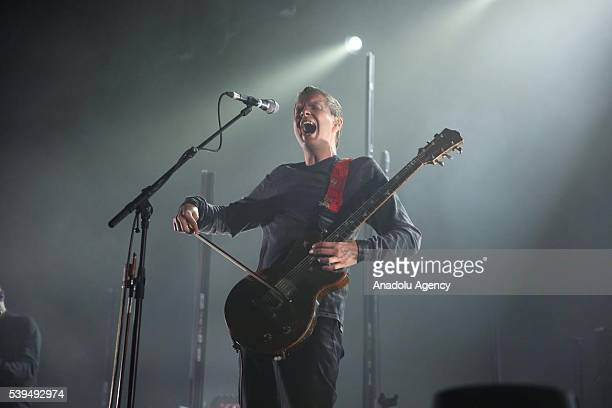 Sigur Ros performs during a concert at Zorlu Performing Arts Center in Istanbul Turkey on June 12 2016